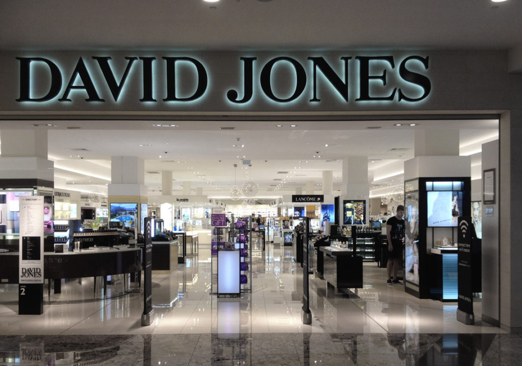 Typical David Jones storefront