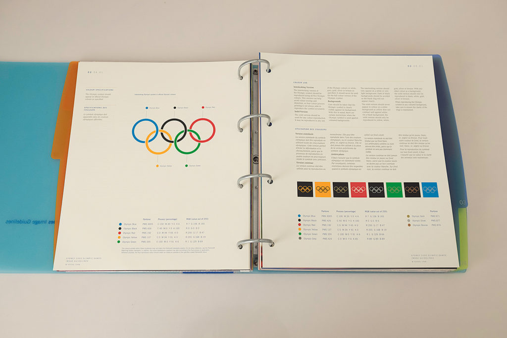 Colour specifications for the Olympic symbol