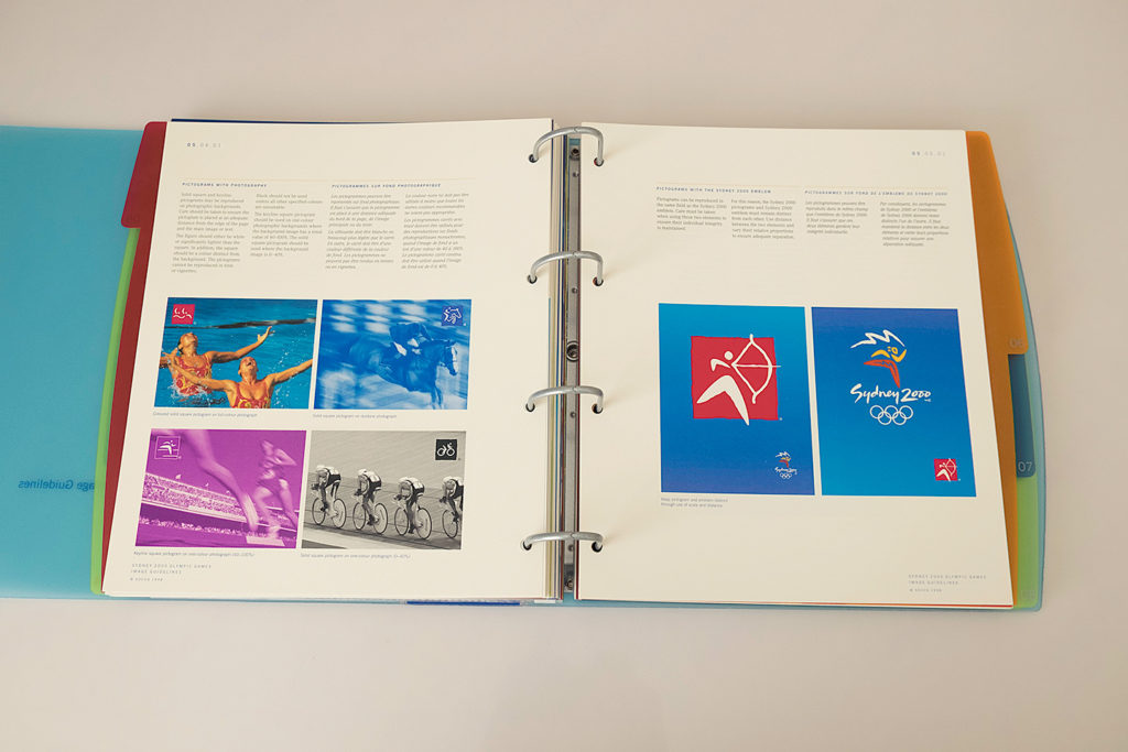 Pictograms with photography, and with the Sydney 2000 emblem