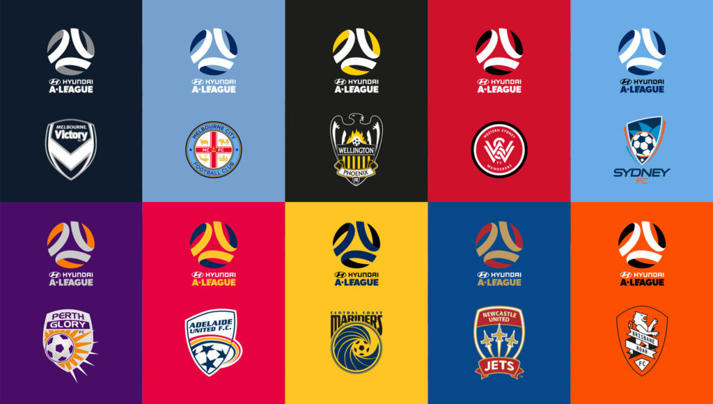 A-League logo in club colours