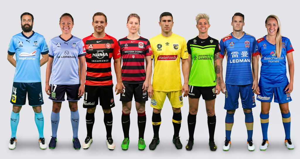 Team kits sporting new logos