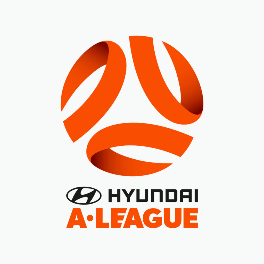 Stripped-down A-League logo