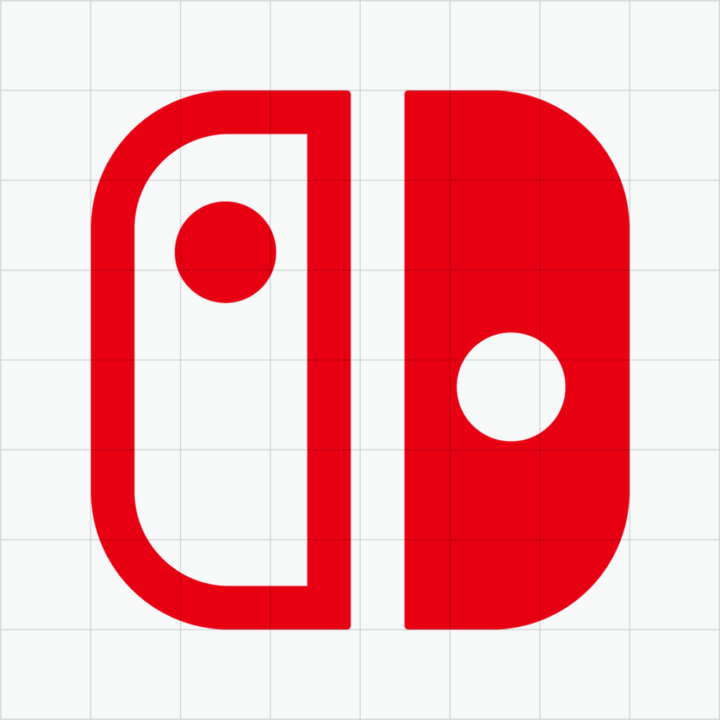Switch icon against a grid