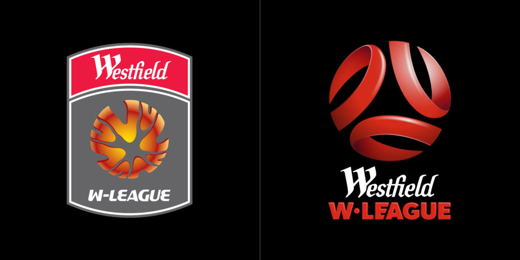 W-League logo before and after