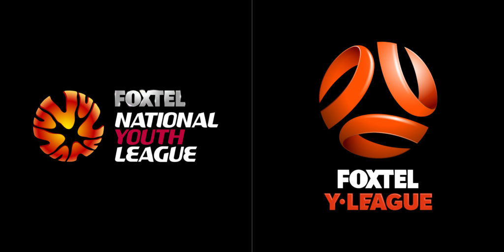 Y-League logo before and after