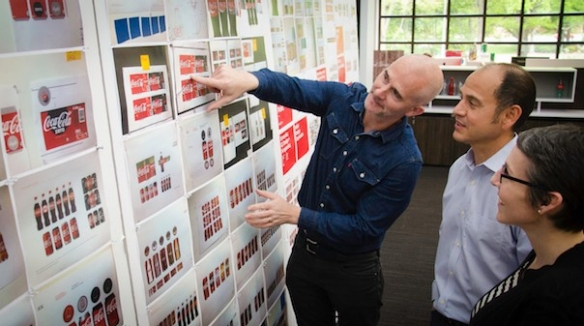 James Sommerville, VP of global design for Coke, and his team