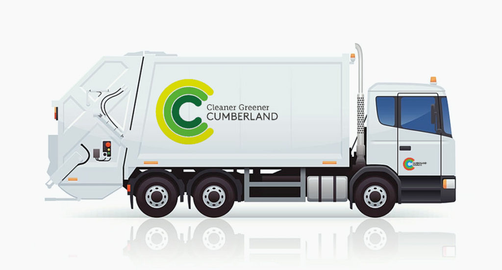 Garbage truck livery