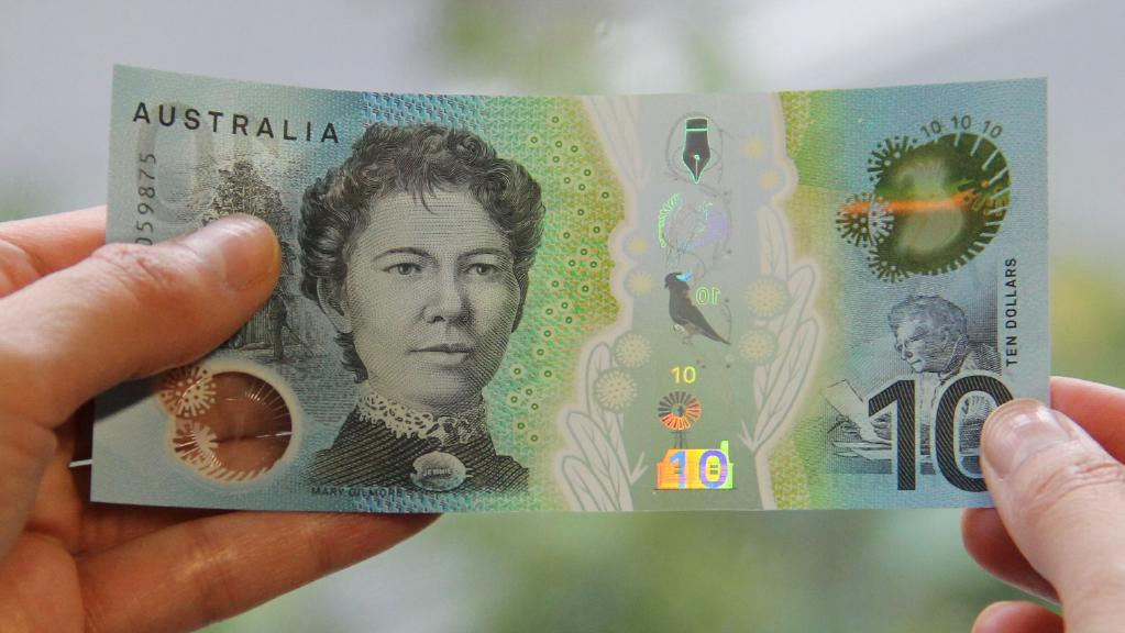 New $10 note (serial side)