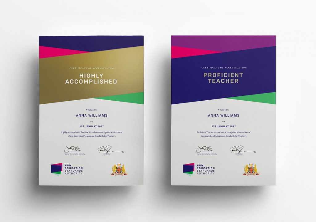 Certificates of Accreditation