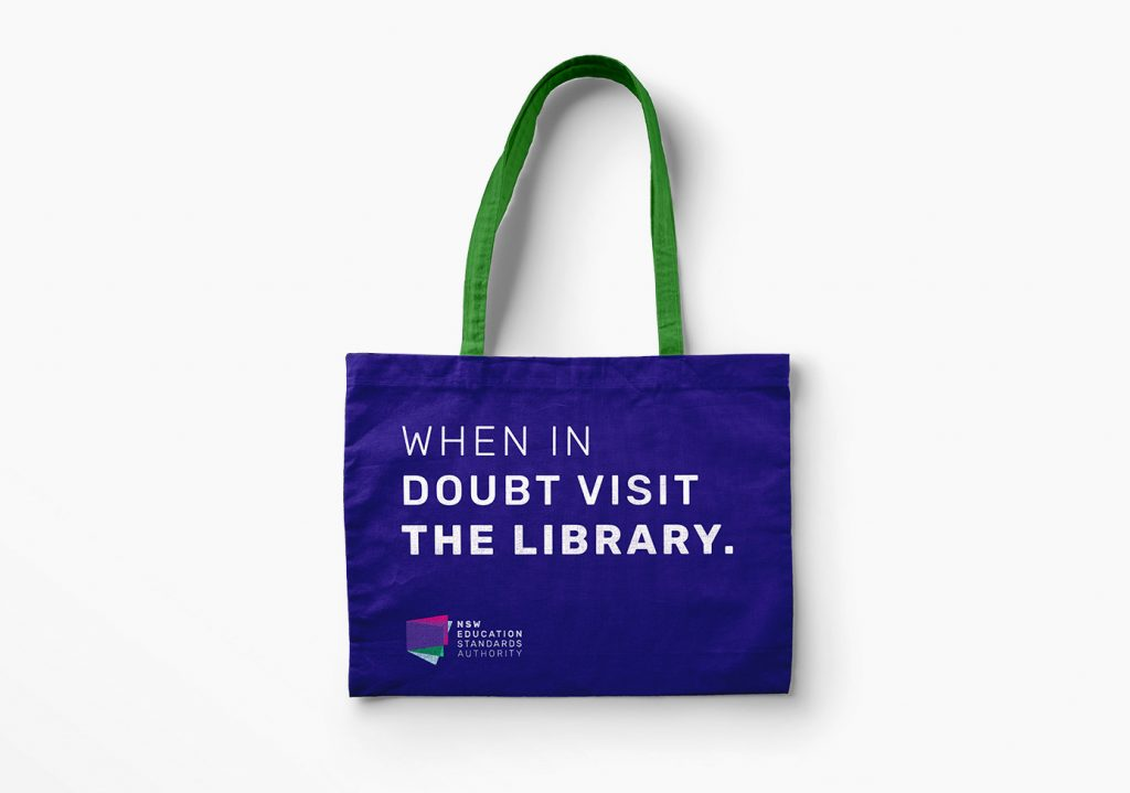 Branded tote/library bag