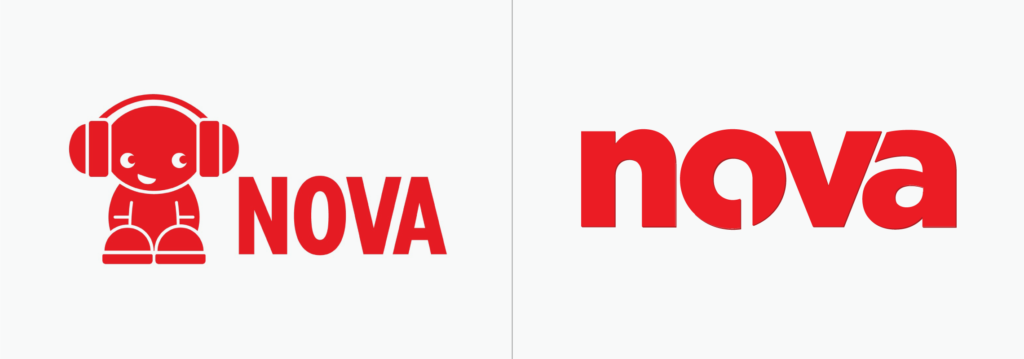 Network logo before and after