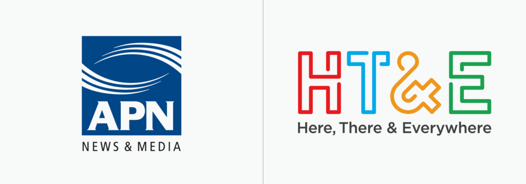 APN/HT&E logo before and after