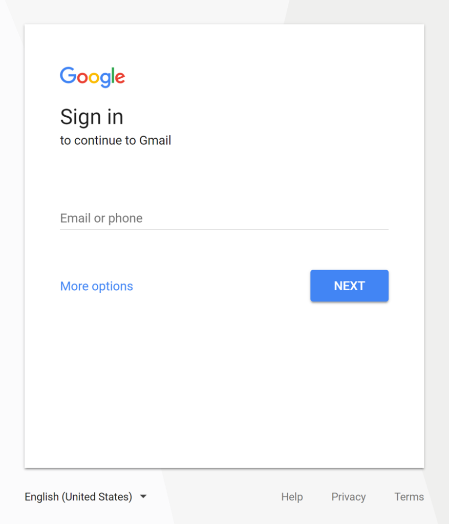 New sign-in page