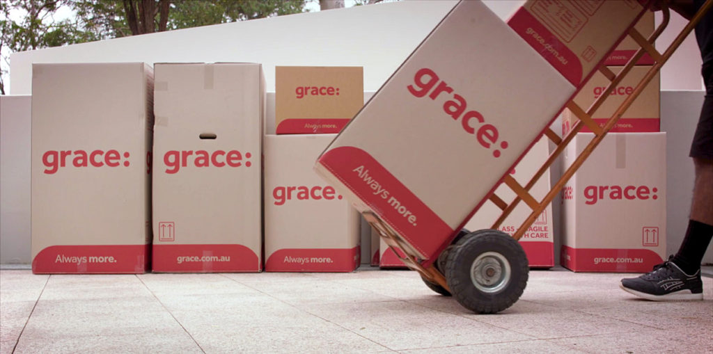 Grace cardboard boxes
