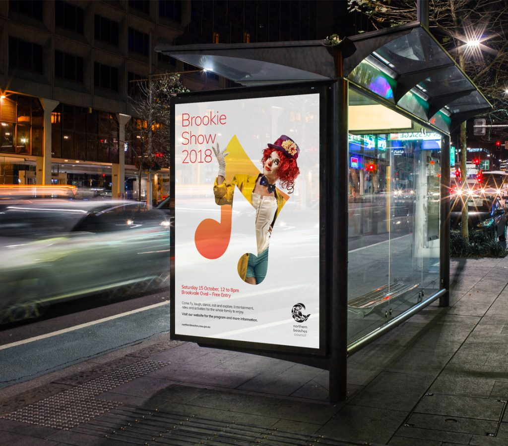 New Northern Beaches Council bus stop poster