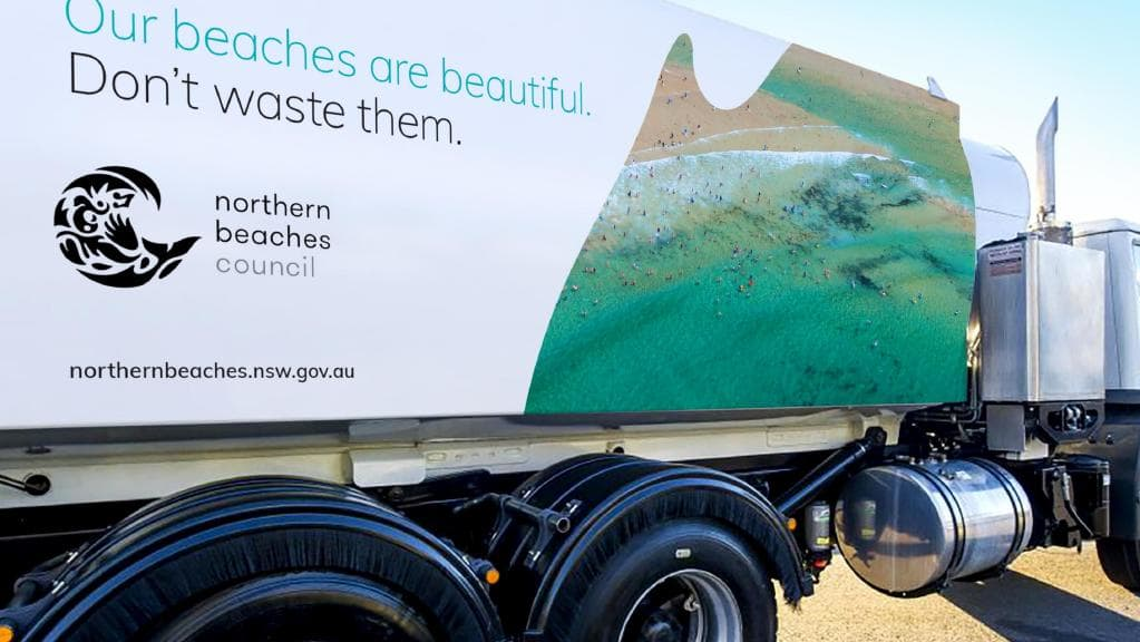 New Northern Beaches Council truck livery
