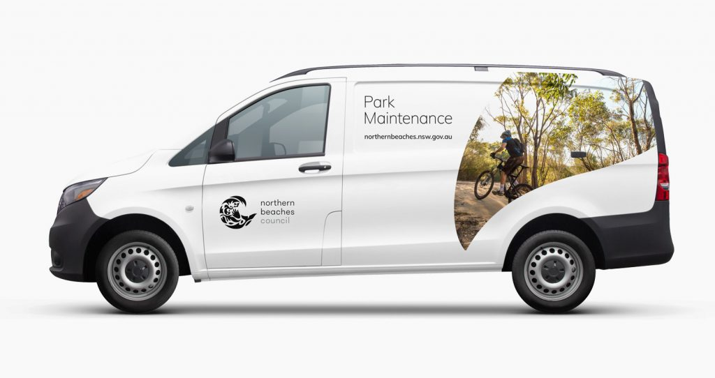 New Northern Beaches Council van livery