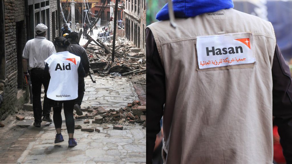 World Vision aid worker uniforms