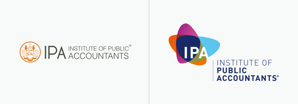 Institute of Public Accountants logo before and after