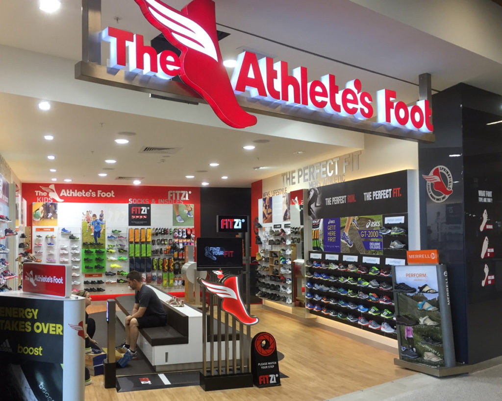 Old The Athlete's Foot store design (Springfield, Queensland)