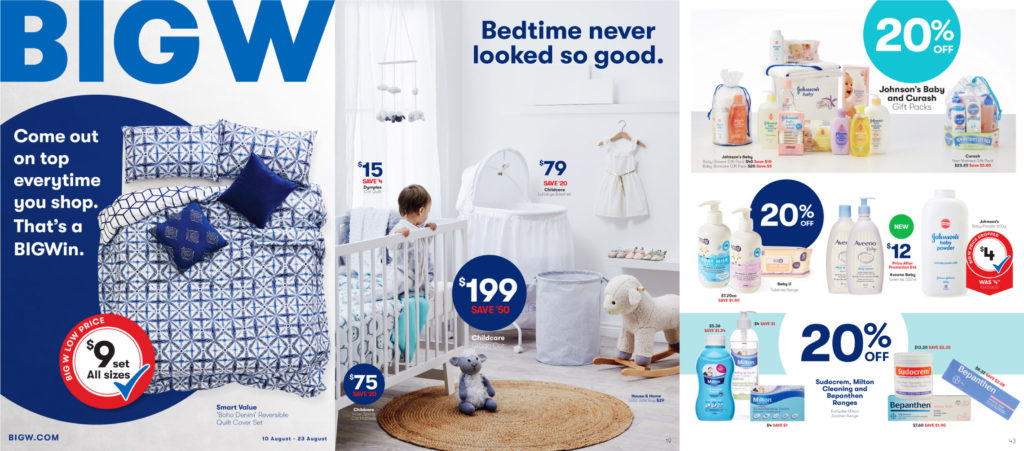 New Big W catalogue sample pages