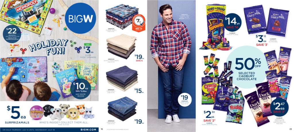 Old Big W catalogue sample pages