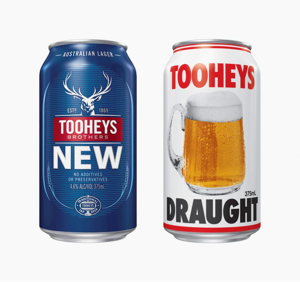 Tooheys New (left) and Classic Edition can (right)