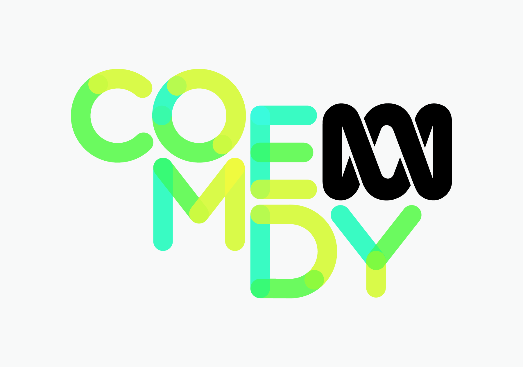 New ABC Comedy logo in detail