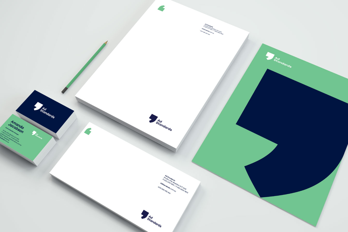 Ad Standards stationery examples