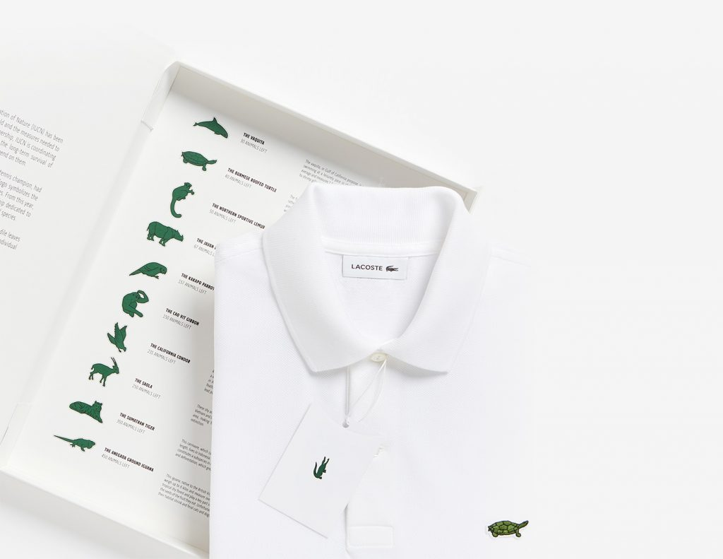 Lacoste Save our Species packaging