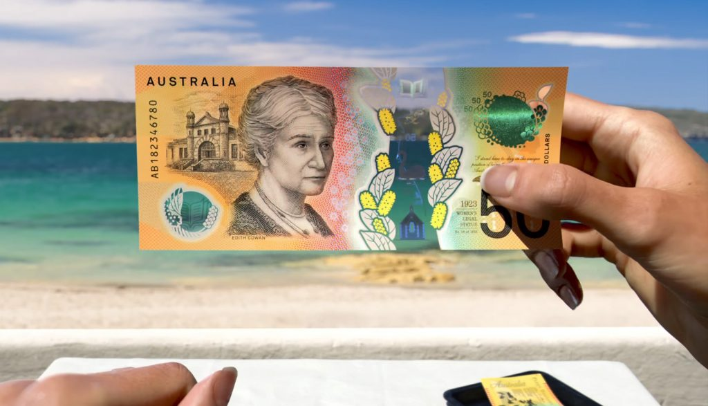 New $50 note (serial side)