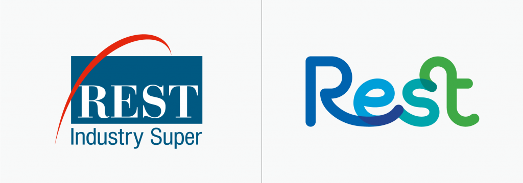 Rest logo before and after