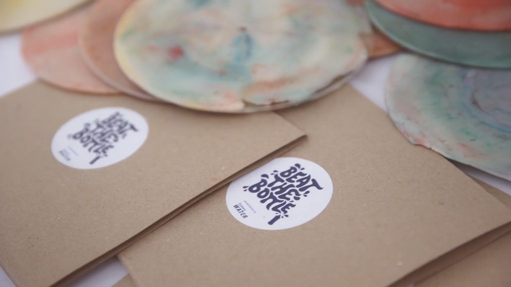 Sydney Water and Republic of Everyone create vinyl records out of recycled marine plastic