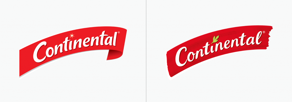 Continental logo before and after
