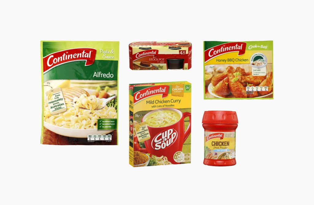 Continental packaging with old logo