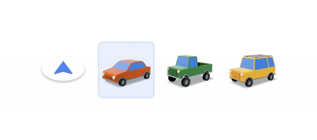 Google Maps's new vehicle icons
