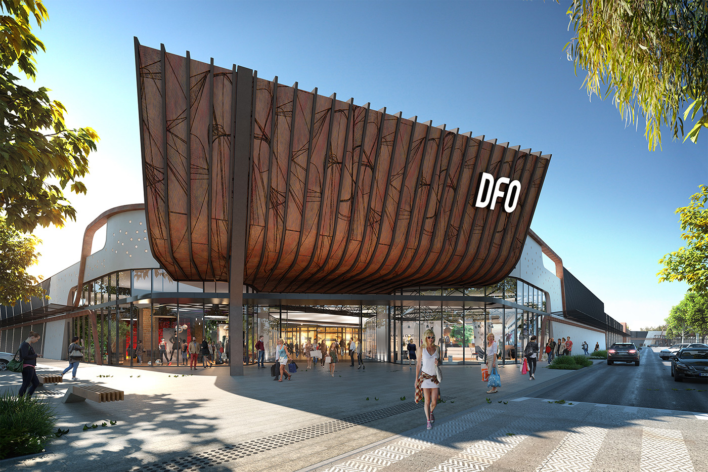 DFO Perth exterior concepts with new logo