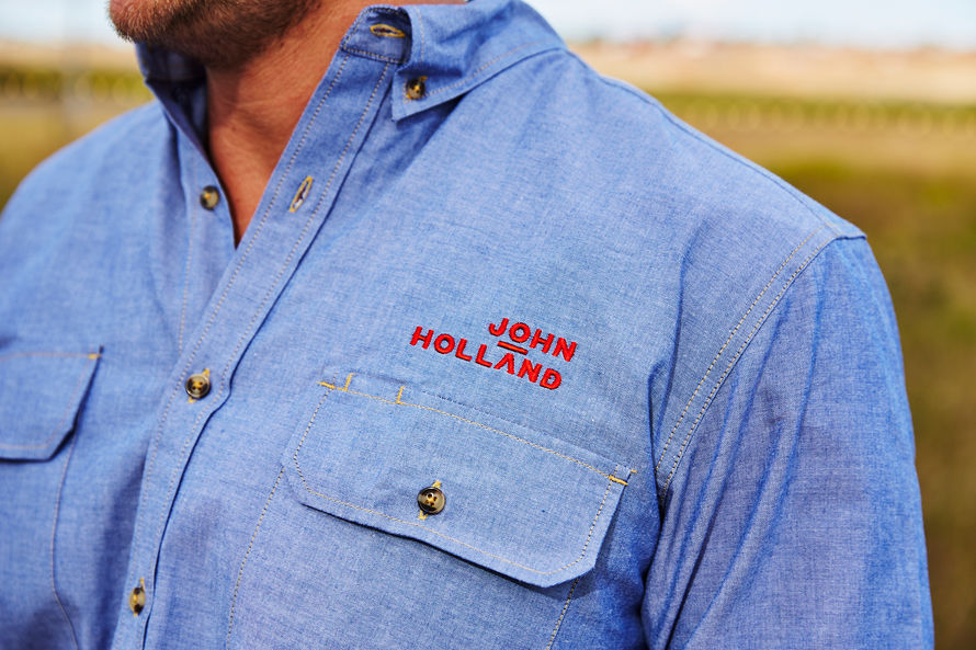 John Holland embroidered logo