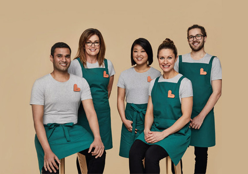 New look Healthy Life staff uniforms