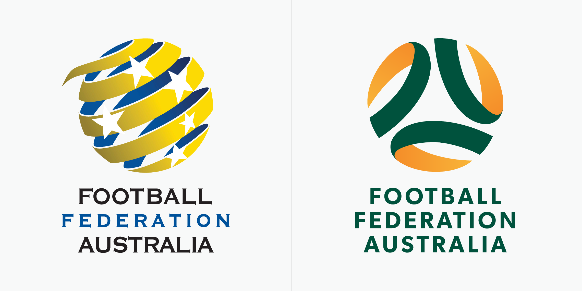 Football Federation Australia logo before and after